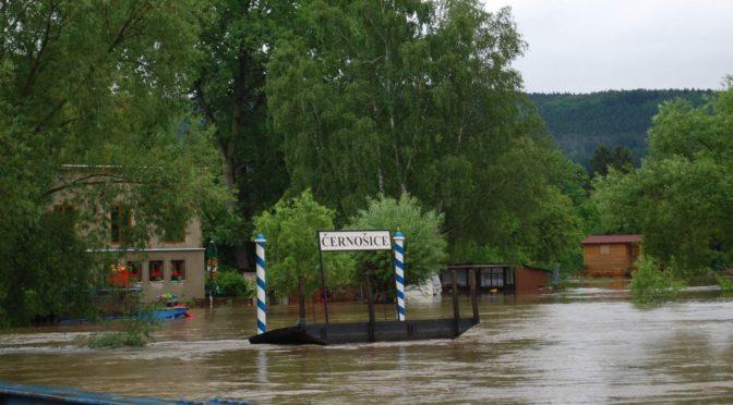 Povodně červen 2013 Dolní Černošice